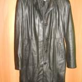 Palton dama de piele REXTON, Negru