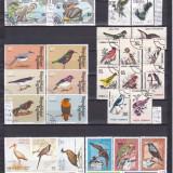 Păsări-colecţie cu serii ştampilate/neştampilate, peste 70 timbre, preţ excepţional, Natura