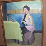 TABLOU FEMEIE - Pictor roman, Portrete, Impresionism