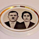 Foto ceramica pentru cruci funerare ( alb/negru, marime mare, 2 persoane )