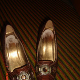 Pantofi maro cu talpa ortopedica -marimea 35 - Pantof dama