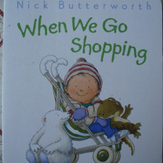 Carte educativa copii cartonata lucioasa Sam si prietenii sai 6 animale When We Go Shopping story ilustrata - Carte personalizata