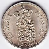 Danemarca 2 KRONER 1937 argint XF/a.UNC, PIESA DE COLECTIE