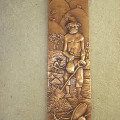PE PLANTATIE - reproducere Brazilia (cupru pe lemn) - sculptura reproducere