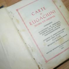 CARTE VECHE DE RUGACIUNI, Complexa, COPERTI GROASE, STARE COMPLETA - Carti de cult