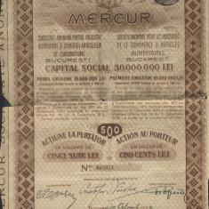 CERTIFICAT ACTIUNI MERCUR 1922