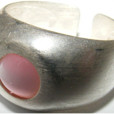 Inel argint - Inel vechi din argint cu piatra lunii - de colectie