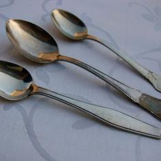 Argint, Tacamuri - Trei lingurite diferite suedeze din alpacca