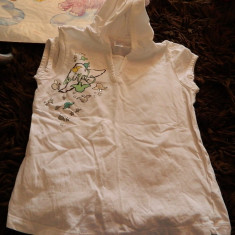 Tricou cu gluga pentru fetite, marca Zara Girls, marimea 9-11 ani, REDUS ACUM!, Culoare: Alb, Fete
