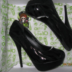 Pantofi cu platforma superbi - Pantof dama, Marime: 36, Culoare: Negru, Negru