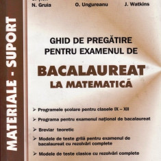 BACALAUREAT LA MATEMATICA de P. NACHILA ED. SIGMA - Teste Bacalaureat