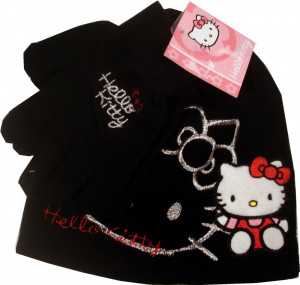 Set caciula+manusi Hello Kitty foto