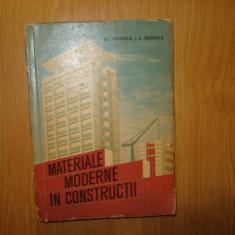 MATERIALE MODERNE IN CONSTRUCTII ANUL 1963 - Carti Constructii
