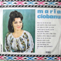MARIA CIOBANU (DISC VINIL) - Muzica Populara