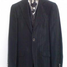 COSTUM GINERE NARMAN - Costum barbati, Marime: 46, Culoare: Negru, 1 nasture, Marime sacou: 46, Normal