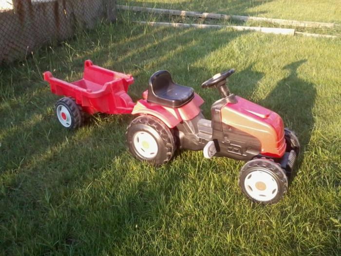 tractor cu pedale si remorca; ideal pentru copii pana in 5 ani foto mare