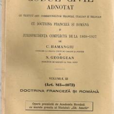 C. Hamangiu / N. Georgean - Codul civil adnotat ( 9 volumele ) - Carte Drept civil