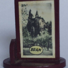 Microvedere-bibelou, Bran, R. P. R., circa 1965, format 23 x 35 x 37 mm