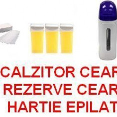 KIT EPILARE / SET EPILAT - APARAT DE EPILAT + HARTIE EPILAT + 3 REZERVE CEARA - Ceara epilare