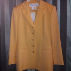 Sacou ESCADA nou, marimea 38, lana pura virgina, subtire, made in Germany - Sacou dama Escada, Culoare: Orange