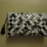 Geanta lucrata manual din hartie - Geanta handmade