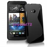 Livrare gratuita in Romania!!! Husa termorezistenta silicon-gel TPU neagra pentru HTC ONE + folie ecran + laveta, calitate, model S-line - Husa Telefon