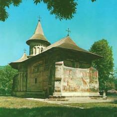 Carti Postale Romania dupa 1918, Necirculata, Fotografie - NGL: Romania Biserica Fostei Manastiri VORONET Carte Postala RPR Color Necirculata Carti Postale Vechi CP