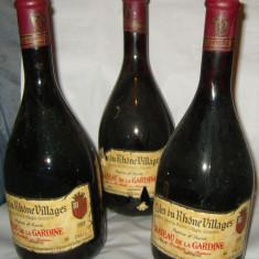Vin foarte vechi de colectie frantuzesc Chateau de la Gardine- Cote du Rhone Village 1978 - Vinde Colectie, Rosu, Europa