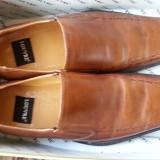 Vand pantofi piele maro Louvre - Pantofi barbati, Marime: 44
