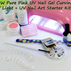 Set kit unghii cu gel manichiura unghii false cu gel UV CEL MAI BUN PRET