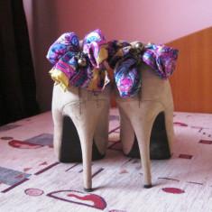 Pantofi dama Bata, Marime: 38.5, Nude - Pantofi nude Bata