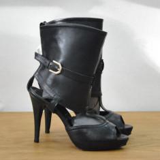 Sandale dama - SANDALE DE PIELE CU TOC INALT SI PLATFORMA TOATE MARIMILE DE LA 35 - 40