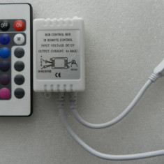 CONTROLLER RGB cu TELECOMANDA CONTROLER PENTRU BANDA LED RGB LEDURI 3528 5050 - NOUA EuropeAsia