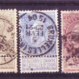 1893 belgia mi. 53-57 stampilate