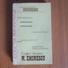 D4 GRIGORE SCORPAN - MIHAI EMINESCU / eminesciana / Studii si articole - Roman