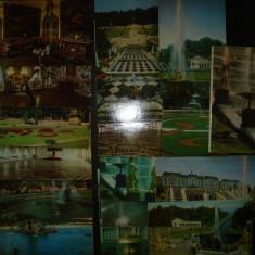 Lot de 16 carti postale - Rusia - URSS, Petrodvorets/ Peterhof - Sankt Petersburg, 1979, Necirculata, Fotografie, Europa