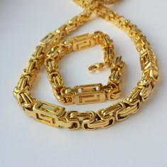Set Lant+Bratara Inox placat Aur model Versace! - Set bijuterii placate cu aur