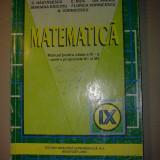 C. Nastasescu - Matematica manual pentru clasa a IX a pentru programele M1 si M2 - Manual scolar, Clasa 9, Alte materii