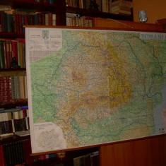 HARTA ROMANIA SCARA 1;625.000 - DIMENSIUNI : 100 X 135 CM - DE PERETE - Harta Romaniei