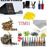 Kit Tattoo profesional sursa Efin Power cu 2 masini si sursa dubla digitala plus kit de 10 culori+geanta cadou, tatoo, aparat tattoo, tatuat - Masina tatuaje