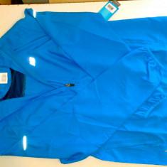 Bluza trening cu fermoar barbati NEW BALANCE 100% originala, noua, etichetata, ambalata in tipla, marime S, import Anglia, atletism - Trening barbati New Balance, Marime: S, Culoare: Bleu, Microfibra