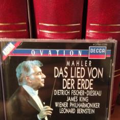MAHLER - DAS LIED VON.. with LEONARD BERNSTEIN(1989/DECCA REC/UK) cd nou/sigilat - Muzica Clasica decca classics