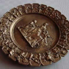 Farfurie decorativa din fonta cuprata - Metal/Fonta, Ornamentale