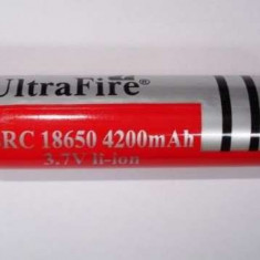 Acumulator UltraFire 18650 3.7V laptop, bormasina lanterna laser led - Baterie Aparat foto Alta