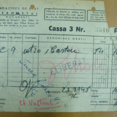 Bon eliberare carton magazinul de stat Ferometal Bucuresti 1948 - Hartie cu Antet