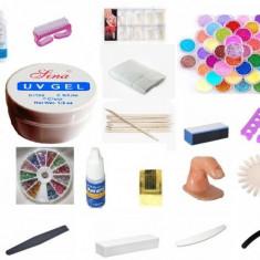 Unghii false - Kit / Set manichiura - gel unghii uv - primer - top coat - degresant