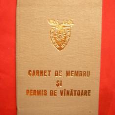 Carnet membru si Permis Vanatoare AGPV -Asociatia Dinamo 1978 - Pasaport/Document, Romania de la 1950