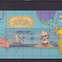 Transporturi, navigatie, navigatori, corabii, harti, Samoa si Sisifo. - Timbre straine
