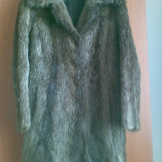 Palton din blana naturala de nutrie marimea 40, este ca nou, este nemtesc! - Palton dama, Culoare: Maro, Maro, Piele
