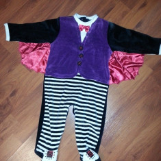 Costum copii 9-12 luni pentru Halloween, marca EARLY DAYS - Irlanda, Culoare: Negru, Negru